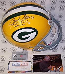 Bart Starr Autographed Hand Signed Green Bay Packers Throwback Full Size Helmet -... by Creative Sports