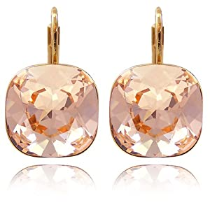 Ohrringe mit SWAROVSKI ELEMENTS Light Peach Gold