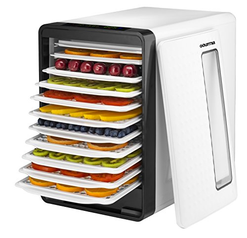 gourmia-gfd1850-food-dehydrator-with-touch-digital-temperature-control-ten-drying-trays-plus-beef-je