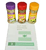"Mrs. Dash Lively Seasoning Blends Bundle including Mrs. Dash Lemon Pepper Seasoning Blend, Onion & Herb Seasoning Blend and Tomato Basil & Garlic Seasoning Blend with BONUS ""Salt Free Cooking with..."""