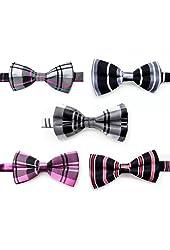 TOPTIE Men's Tuxedo Bow Tie, Adjustable Neck Bowtie 5pc Mixed Lot