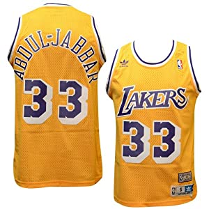 Los Angeles Lakers #33 Kareem Abdul-Jabbar NBA Soul Swingman Jersey, Gold by adidas