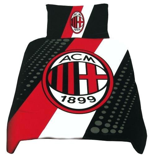 海外サッカー 公式 オフィシャル / シングルサイズ 掛布団カバー・枕カバー セット 全8種 (AC Milan / ACミラン) [並行輸入品]