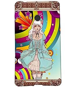 Fuson Cute Girl Back Case Cover for NOKIA MICROSOFT LUMIA N540 - D3646