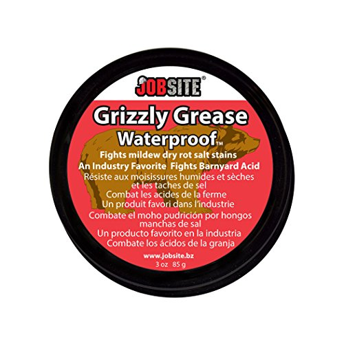 jobsite grizzly grease waterproofing leather protector paste prevents mildew dry rot salt. Black Bedroom Furniture Sets. Home Design Ideas
