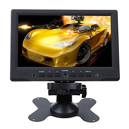 "7"" Lcd Car Rear View Monitor With Hdmi 1080P, Support Rca Av Vga Tft Lcd Great For Car Backup Camera"
