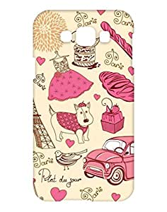 1on1 Selfie Back Cover for Samsung Galaxy E7 (Multi-coloured)