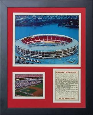 "Legends Never Die ""Cincinnati Reds Riverfront Stadium"" Framed Photo Collage, 11 x 14-Inch"