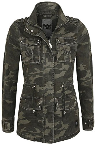 Black Premium by EMP Studded Biker Style Giacca donna mimetico XS