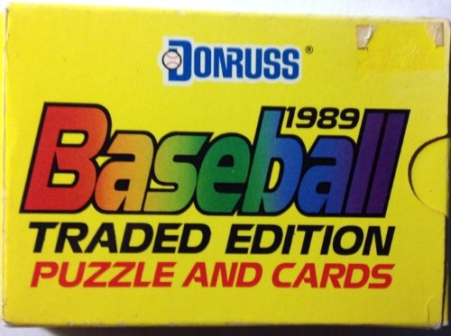 Donruss 1989 Baseball Traded Edition Puzzle and Cards - 1