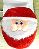D-FantiX Santa Toilet Lid Cover Christmas Decorations Bathroom Decor