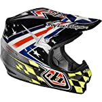 Troy Lee Designs Strike Air Off-Road/Dirt Bike Motorcycle Helmet - Silver / Small