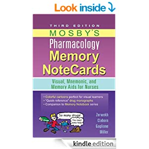 MEMORY PHARMACOLOGY MOSBY NOTECARDS