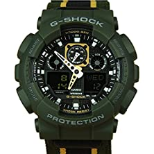 buy Casio G-Shock Ga-100Mc Military Cloth - Olive Maize (Ga-100Mc-3Adr)