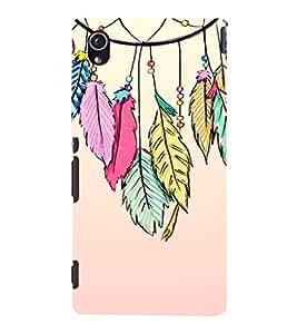 EPICCASE Hanging Leaves Mobile Back Case Cover For Sony Xperia M4 Aqua Dual (Designer Case)