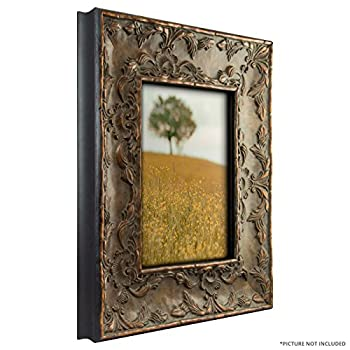 Craig Frames 10723 8 by 10-Inch Picture Frame, Solid Wood Core, Embossed Leaf Finish, 3.25-Inch Wide, Antique Gold