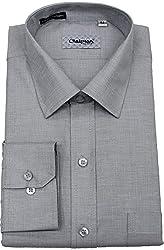 Chairman Men's Cotton Shirt (romch9145grey_42, Grey, 42)