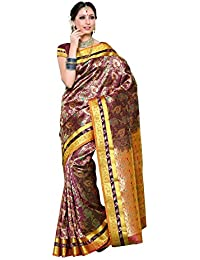 Mimosa Women's Traditional Art Silk Saree Kanjivaram Style, Color :Mejantha(3254-N9-MEJ)