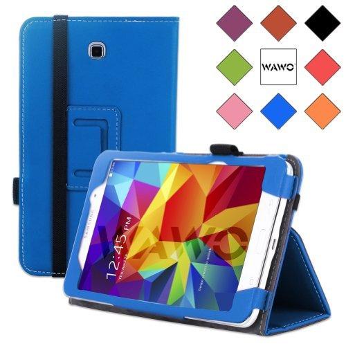 Wawo Creative Folio Cover Case For Samsung Galaxy Tab 4 7.0 Inch Tablet - Sky Blue