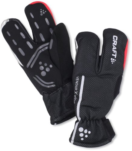 Craft - Guanti tre dita impermeabili, unisex, nero (nero), XL