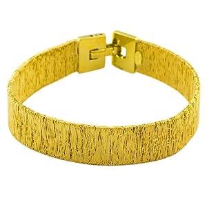 Elegant 14 Karat Yellow Gold Wire Wrap Style Italian Made Bracelet 7 inch