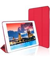 JETech® Gold Slim-Fit iPad Air Smart Housse Case Cover Coque Etui pour Apple iPad Air iPad 5 avec Support et Fermeture Magnétique avec mise en Veille Automatique (Rouge)