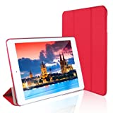 iPad Air Case, JETech® Gold Serial iPad Air Slim-Fit Smart Case Cover for Apple iPad Air iPad 5 with Auto Sleep/Wake Feature (iPad Air, Red)