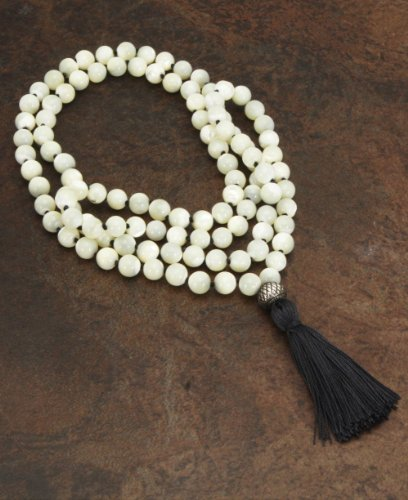 108 Mother of Pearl Beads Premium Knotted Meditation Mala