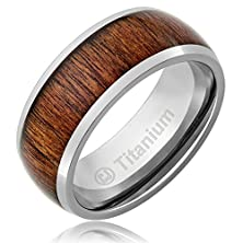 buy Cavalier Jewelers 8Mm Men'S Titanium Ring Wedding Band With Real Wood Inlay [Size 10.5]