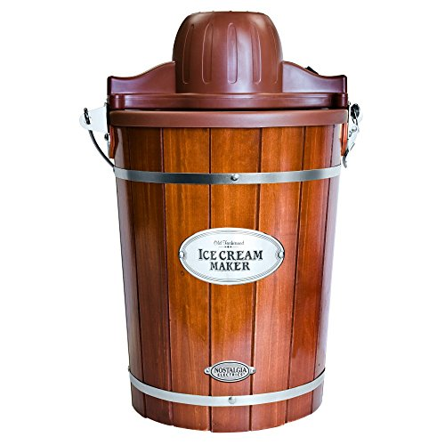Nostalgia ICMP600WD Vintage Collection Old Fashioned 6 Quart Wood Bucket Ice Cream Maker (Ice Cream Maker Old Fashioned compare prices)