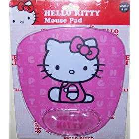 Hello Kitty mouse pad w/ wrist rest - pink