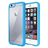 iPhone 6 Case, Maxboost® [Clear Cushion] iPhone 6 (4.7) Case Bumper [Lifetime Warranty] Seamless integrated Shock-Absorbing Bumper and Ultra Clear Back Panel Protective Cover – Stylish Retail Packaging – Slim Bumper Case for iPhone 6 (4.7 inch) (2014) – Moonstone Blue