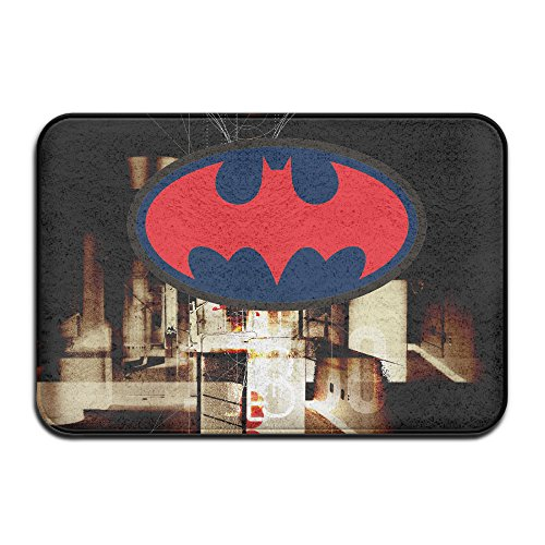 JML93 Home Furnishing Bathtub Bat Logo NonSlip Rug White (Doc Mcstuffins Toaster compare prices)