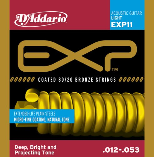 D'Addario EXP11 Coated Acoustic Guitar Strings,