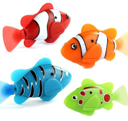 Doinshop 2013 Newest Random Color Novel Robo Fish Electric Toy Pet Fish With Aquatic Gift For Kids Children