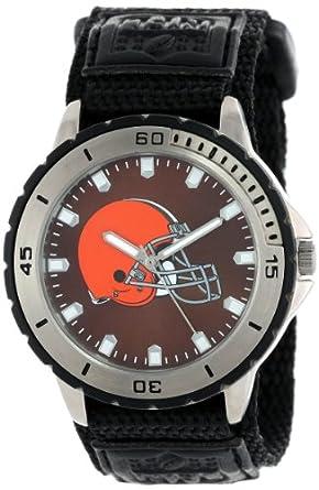 Game Time Mens NFL-VET-CLE Veteran Custom Cleveland Browns Veteran Series Watch by Game Time