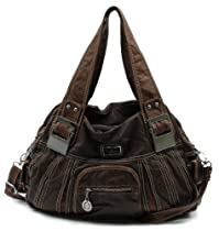 Hot Sale Scarleton Large Shoulder Bag H106604 - Brown