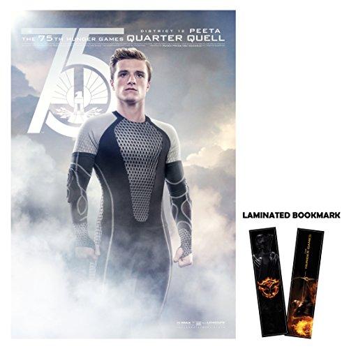 "Hunger Games: Catching Fire (2013) Movie Poster Reprint 13"" x 19"" Borderless Peeta Quarter + Laminated Bookmark"