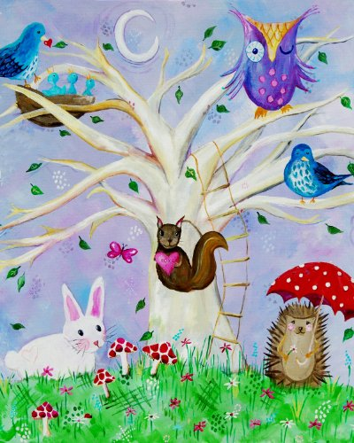 Cici Art Factory Wall Art, Woodland Wonderland, Small