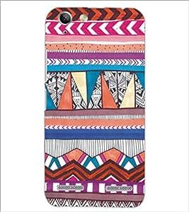 PrintDhaba Tribal Pattern D-5437 Back Case Cover for LENOVO VIBE K5 (Multi-Coloured)