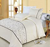 51eHKt5tapL. SL160  3 PC Anna linens Embroidered Duvet Set