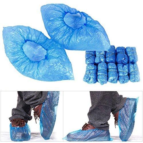 Shoe Covers Disposable Shoe Covers Rain Waterproof Disposable Shoe Covers Blue Green Plastic No Odor Case Lot 100pcs (Shoe Cover Holder compare prices)