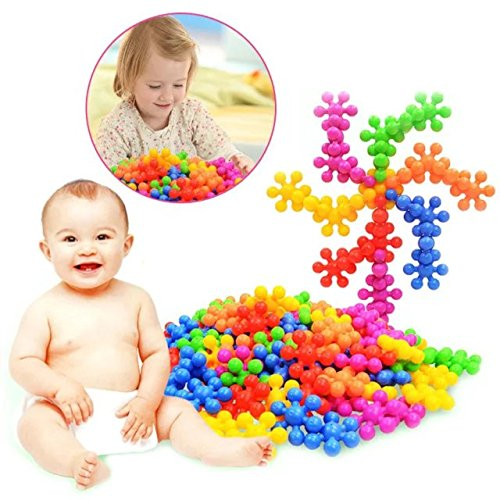 100+Pcs/Bag Plum Blossom Shaped Building Block Toy Plastic Colorful Baby Early Educational Toys Children Kids Gift Wholesale,To improve Imagination and Creativity (Wood Tub Plank compare prices)