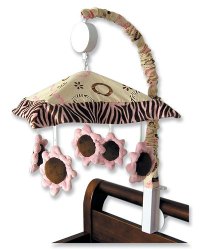 Trend Lab Sweet Safari Musical Mobile, Pink (Discontinued by Manufacturer)
