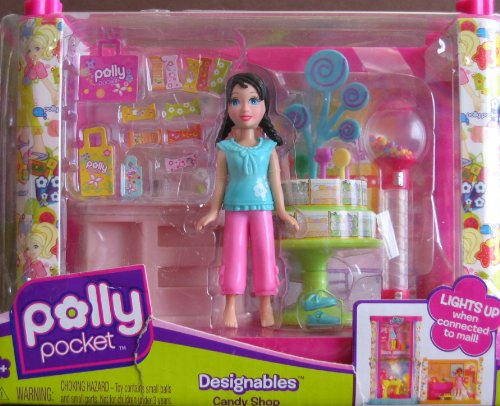 Buy Low Price Mattel Polly Pocket Designables Candy Shop Playset W Crissy Doll & More (2008) Figure (B002ZYUS0G)