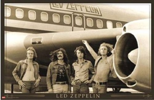 Led Zeppelin - In Front Of Plane Poster Print (36 X 24)
