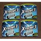 16 Schick Xtreme3 Blades 4 * 4 Cartridges Refills Use with Subzero Razor