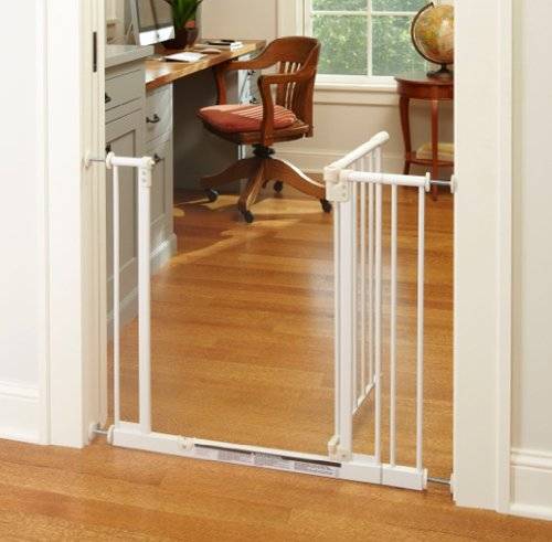 North States Supergate Easy Close Metal Gate White