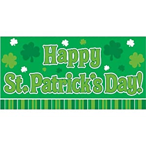 "Happy St. Patrick's Day Large Horizontal Banner -65"" X 33 1/2"" - 1/pkg. from Amscan"