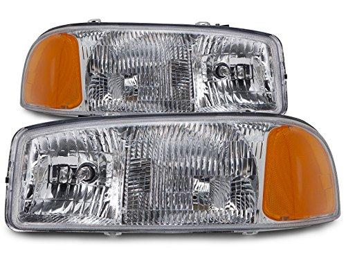 GMC Sierra/Yukon New Headlights Set Headlamps Pair (05 Sierra Headlight Assembly compare prices)